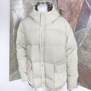 Burton Cream Down Feather Quilted Puffer Coat XL